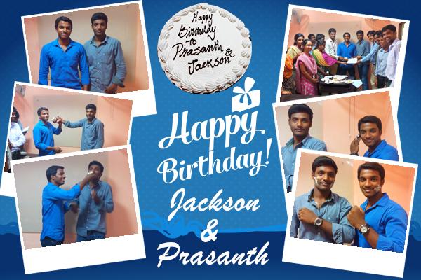 Birthday Celebration of jackson and prasanth
