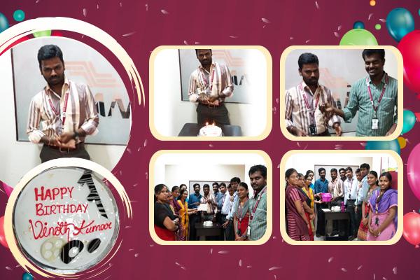 Vinoth Kumar Birthday Celebration at Zuan Technology