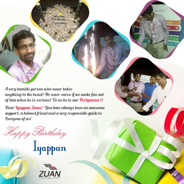 Iyappan Zuan Technology Birthday