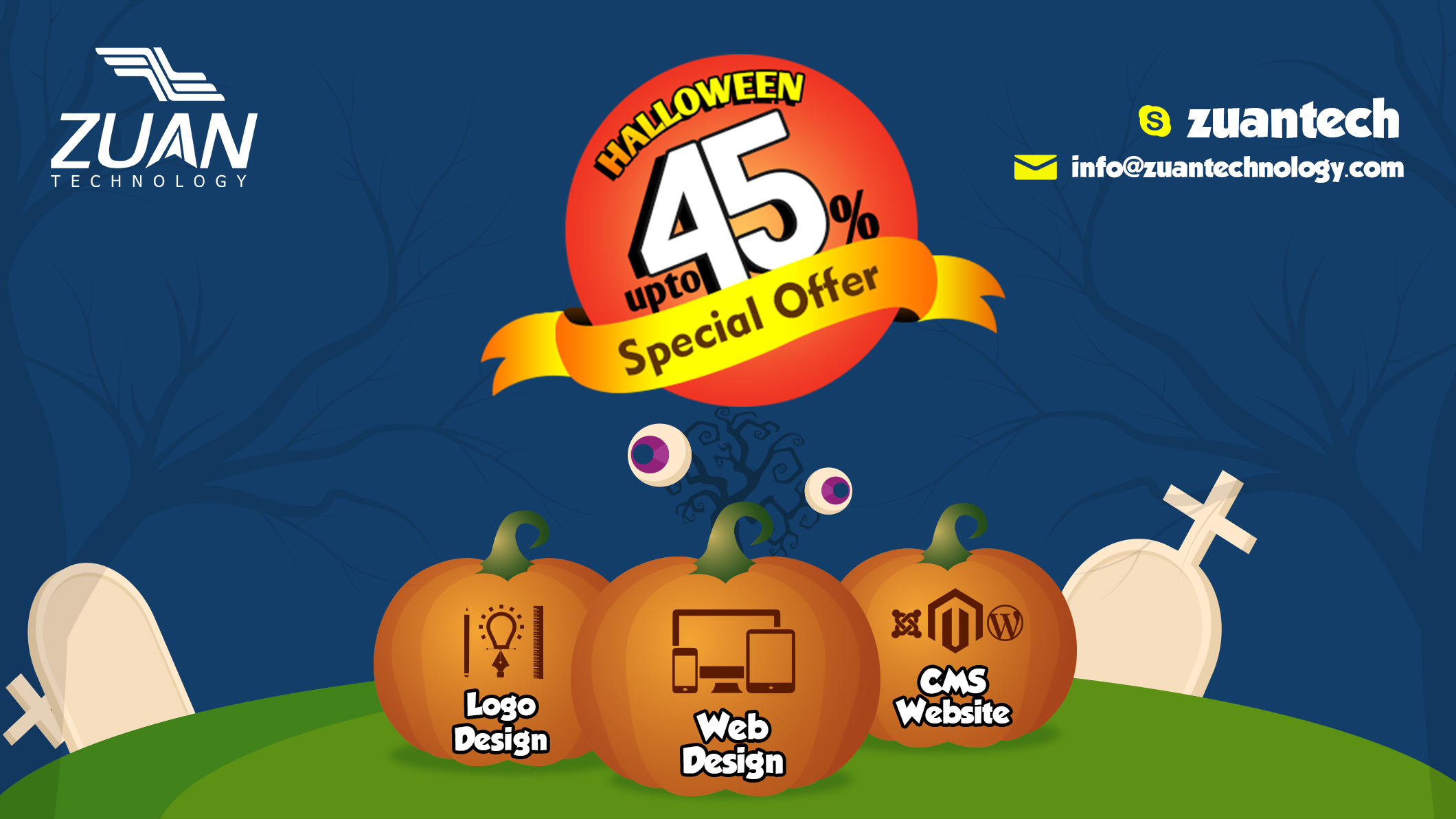Halloween Special Offer on our Design Services - Zuan