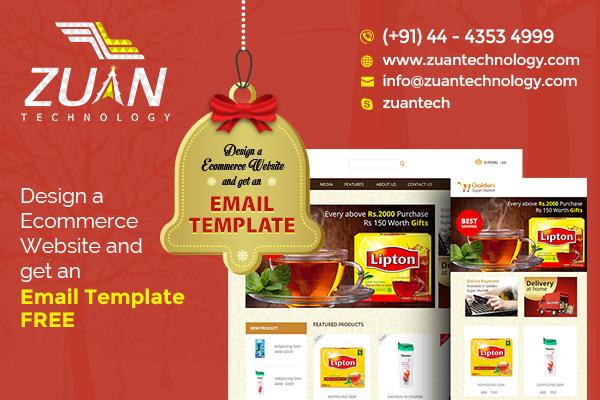 Ecommerce website design christmas offer zuan technology