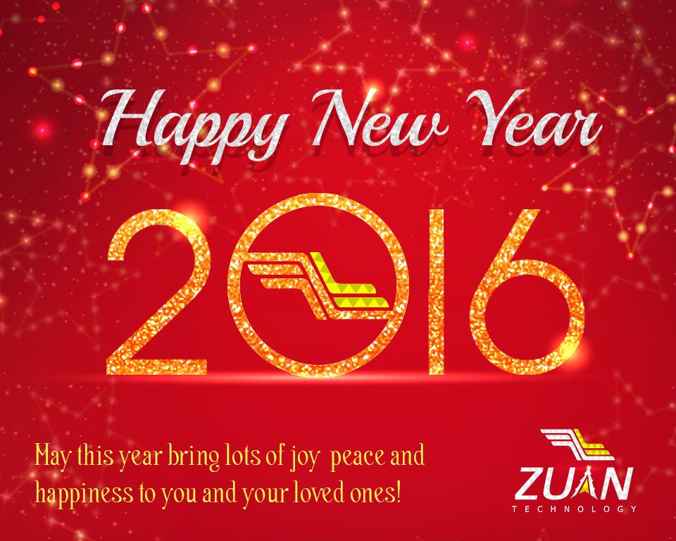 Zuan Technologies New Year 2016 wishes