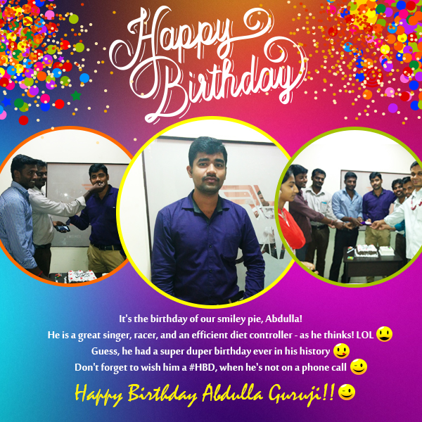 abdulla birthday celebration zuan technology