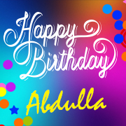 happy birthday abdulla