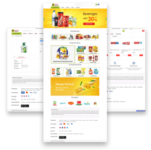 Online grocery delivery app