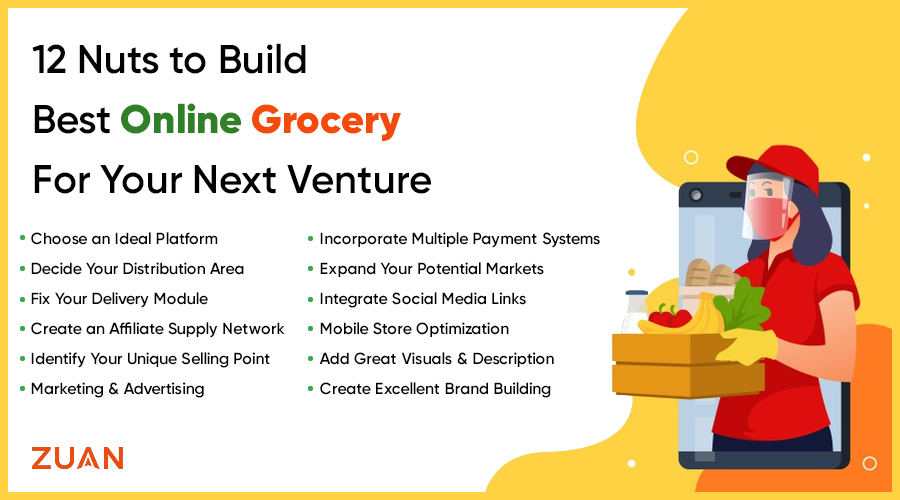 12 Nuts to Build Best Online Grocery For Your Next Venture