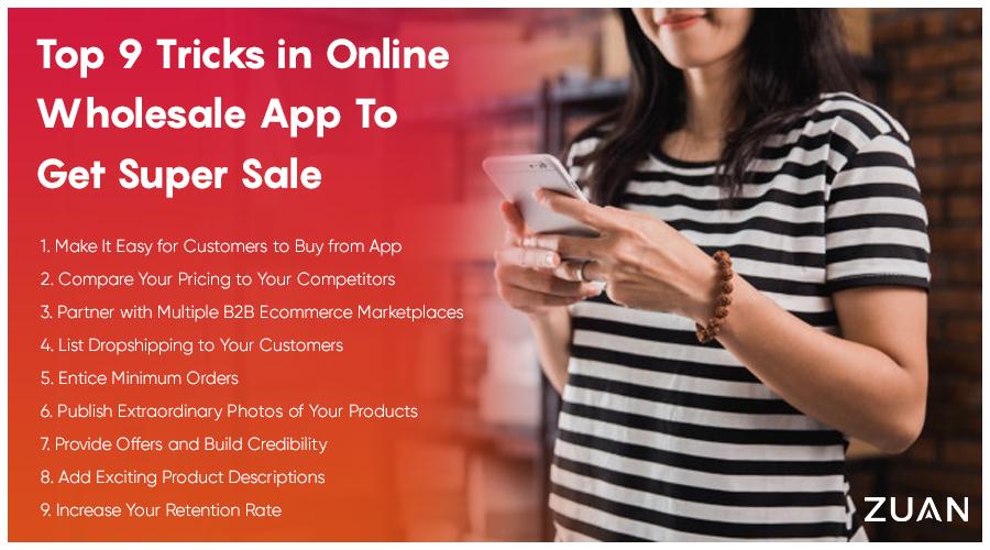 Top 9 Tricks in Online Wholesale App To Get Super Sale