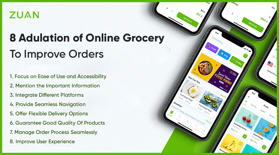 8 Adulation Of Online Grocery To Improve Orders